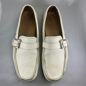PRADA driving shoes in white size 9.5
